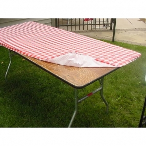 Where to find PLASTIC COVER RED GINGHAM 30 x72 in Arlington