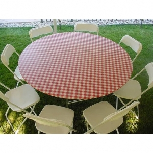 Where to find PLASTIC COVER RED GINGHAM RND 60 in Arlington