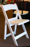 Where to rent CHAIR WHITE GARDEN RESIN PADDED in Arlington TX
